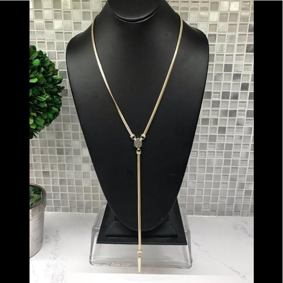 Kendra Scott Jewelry - Kendra Scott new black Drusy Y necklace